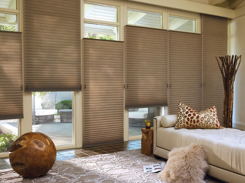 Honeycomb shades new york city for Motorized top down bottom up shades