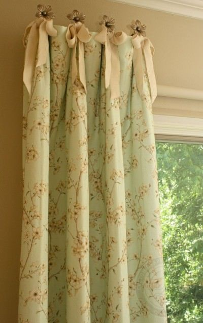 drapery tiebacks to hang curtains - custom drapery designs