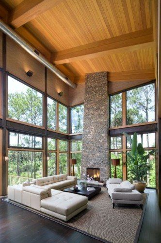 motorized shades for tall windows -via christopher rose architects
