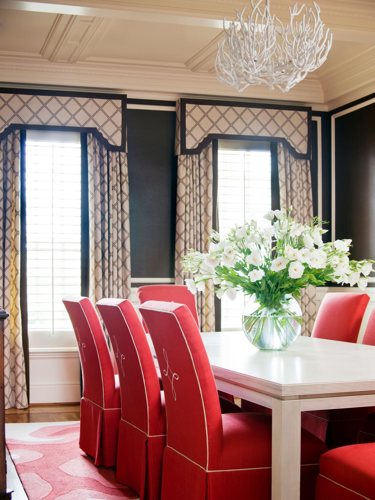 The best window treatments for your style the shade company Dining room window curtains