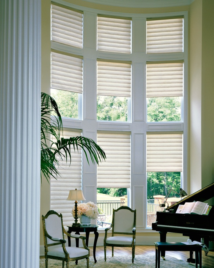 3 window treatment options for double height doors for Shades and window treatments