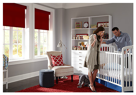Lutron shades - nursery