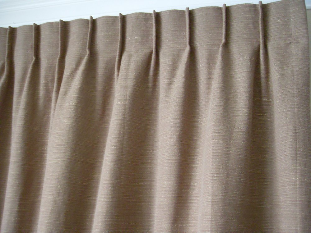 single pleat drapery
