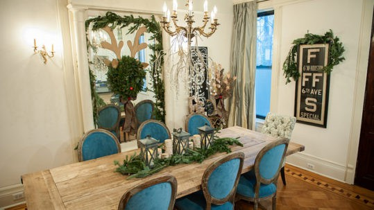 Traditional, elegant shades in the Windsor Terrace dining room of blogger Brooklyn Limestone