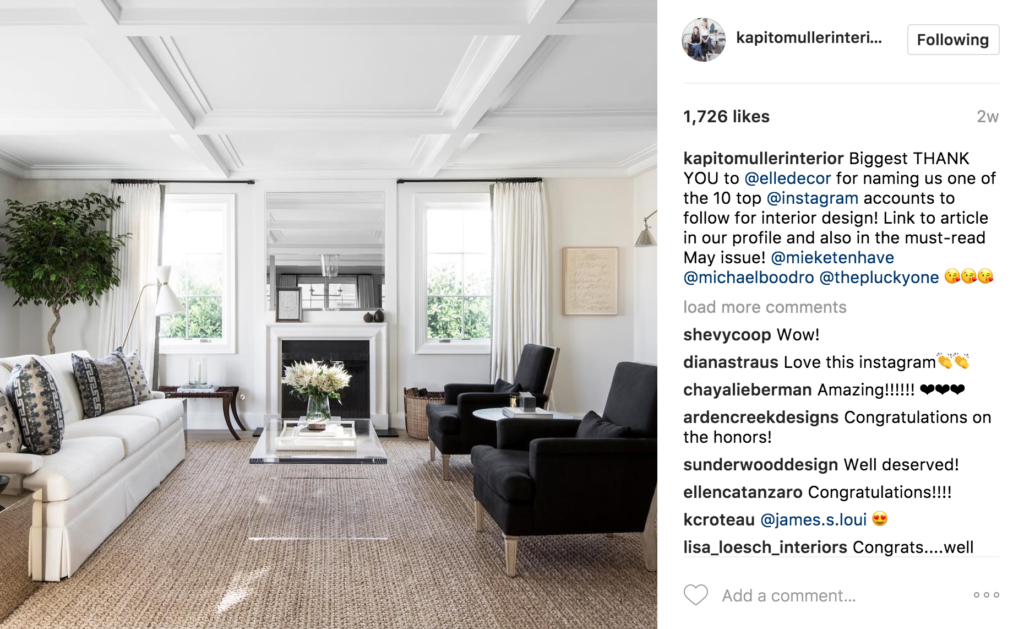The Editors At Elle Decor Recently Included Them On A List Of Their 10 Favorite Designers To Follow In Instagram